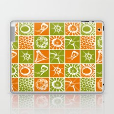 Microscopic Life Sillouetts Orange and Green Laptop & iPad Skin