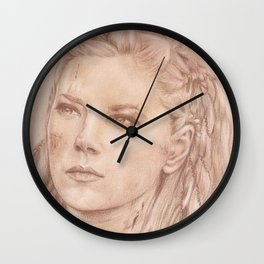 Shield Maiden Wall Clock