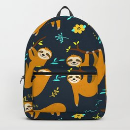 Cute Animal Lover Sloth Hanging Around Being Cool Pattern Design Backpack