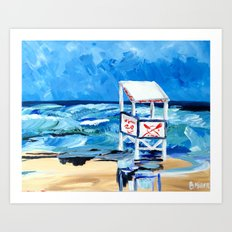 Ocean City Lifeguard Stand Art Print