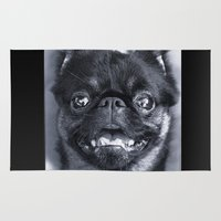 dentist Area & Throw Rugs featuring I Am Cute And I Know It by Roger Wedegis