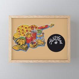 fastfood Framed Mini Art Print