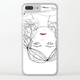 Why smile? Clear iPhone Case