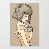 gemma Canvas Prints featuring Gemma by Gemma Teese