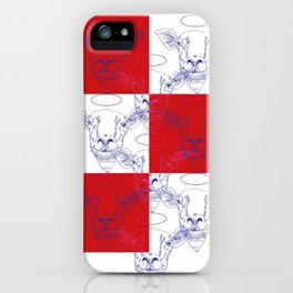 Heiliges Schaf, rote Wand iPhone Case