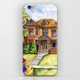 Victorian Mansion in the Spring iPhone Skin