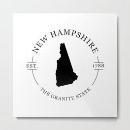 New Hampshire - The Granite State Metal Print