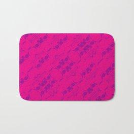 Hipster Purple Skulls Pattern Vector Neon Pink Bath Mat