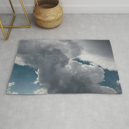 Clouds in the blue sky Rug