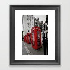 Phone Booths of London Framed Art Print