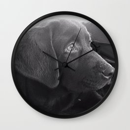Labrador Puppy Portrait Wall Clock