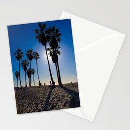 Sun on palm tree Stationery Cards