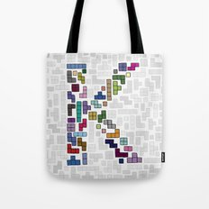 letter k - gaming blocks Tote Bag
