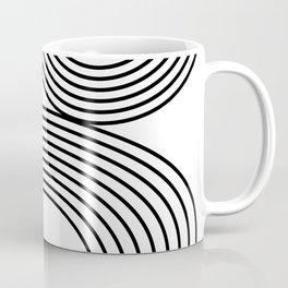 Modern Minimalist Line Art in Black and White Coffee Mug