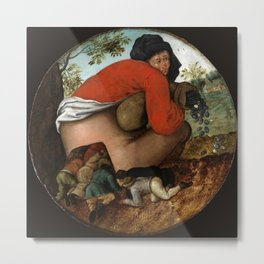 "Pieter Brueghel II (The Younger) ""Man with the Moneybag"" Metal Print"