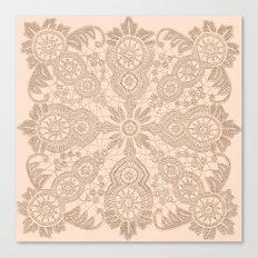 Pale Pink Lace Canvas Print