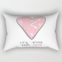 It's time for love Rectangular Pillow