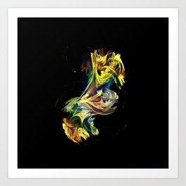 Dance of the paints Art Print