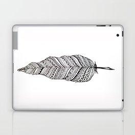Aztec black and white feather Laptop & iPad Skin