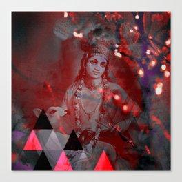Krishna Reprise - The Hindu God Canvas Print
