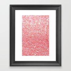 pink sparkle Framed Art Print