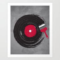 music Art Prints featuring Art of Music by dan elijah g. fajardo