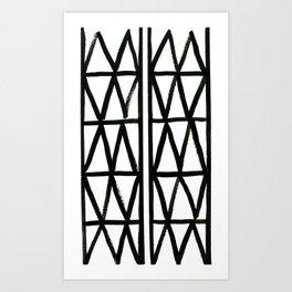 Brush and Ink II Mudcloth Pattern Art Print