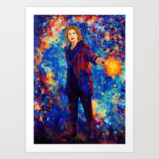 Beautiful 13th Doctor abstract art Art Print