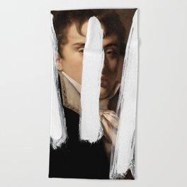 Brutalized Portrait of a Gentleman 2 Beach Towel