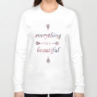 vonnegut Long Sleeve T-shirts featuring Everything. by Gabrielle Agius