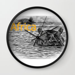 Africa IV Wall Clock