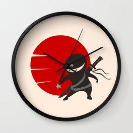 LITTLE NINJA STAR Wall Clock