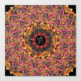 Pug Yoga Mandala Canvas Print