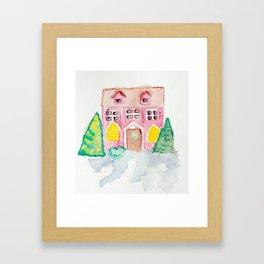 Chirstmas House Framed Art Print