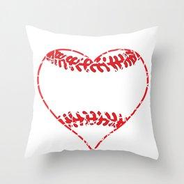 Baseball Grandmother Grandma Heart Brittle Sweet Gift Throw Pillow