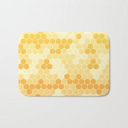 Honeycomb Yellow and Orange Geometric Pattern for Home Decor Bath Mat