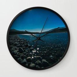 Sunshine Over Lamar River Wall Clock