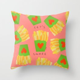 It's Such a Difficult Time So Let's Share - love Throw Pillow