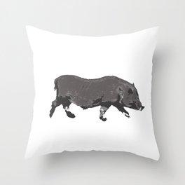 Fat Little Piggy Throw Pillow