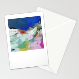 blue sky landscape abstract Stationery Cards