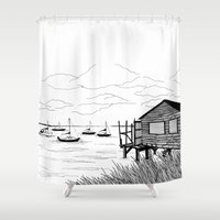 wind Shower Curtains featuring Wind by Aleksandra Kabakova