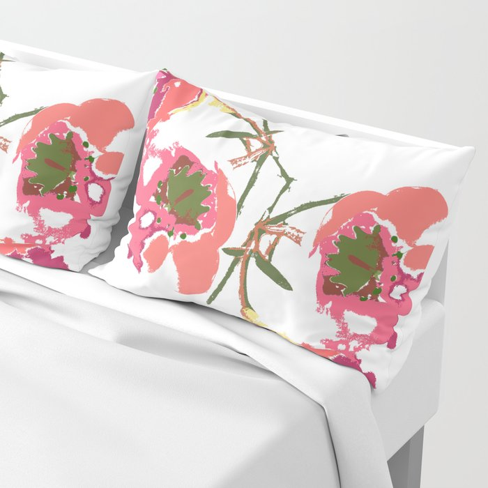flowing flowers Pillow Sham