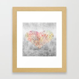 Colorful Hearts Framed Art Print
