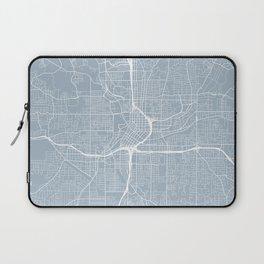 Atlanta Map, USA - Slate Laptop Sleeve