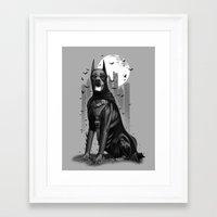 doberman Framed Art Prints featuring DOBERMAN by ADAMLAWLESS