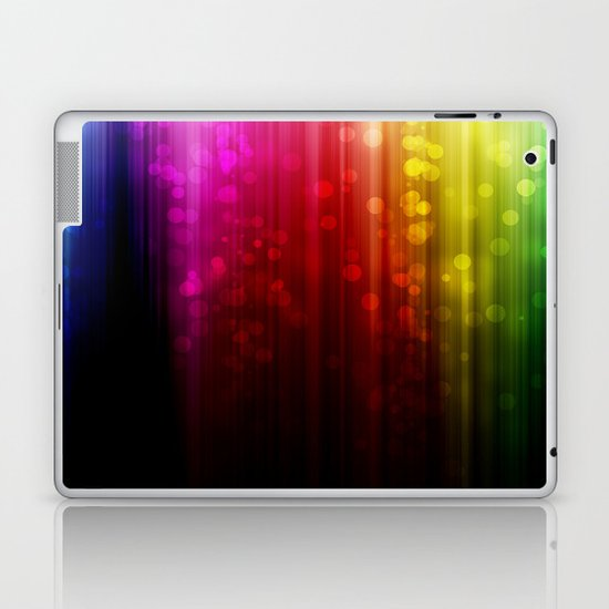 Rainbow Rain. Laptop & iPad Skin