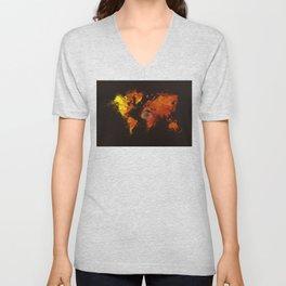 world map 70 Unisex V-Neck