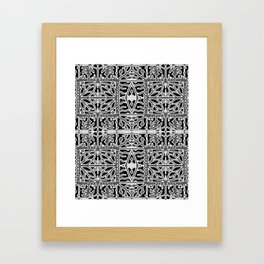 Dark Oriental Ornate Pattern Framed Art Print