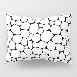 Abstract white and black pebble pattern Pillow Sham