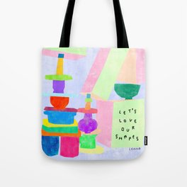 Love Yourself Love Your Shapes Body Positivity Self Love Mental Health Awareness Colorful Positive Tote Bag